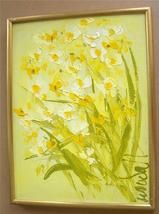 "Signed & Framed Woudall ""Daffodils""  Art Painting - $289.14"