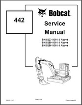Bobcat 442 Mini Excavator Service Repair Workshop Manual CD - $12.00
