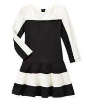 Rare Editions Little Girls' Color blocked Drop-Waist Dress, Black, Size ... - $19.79