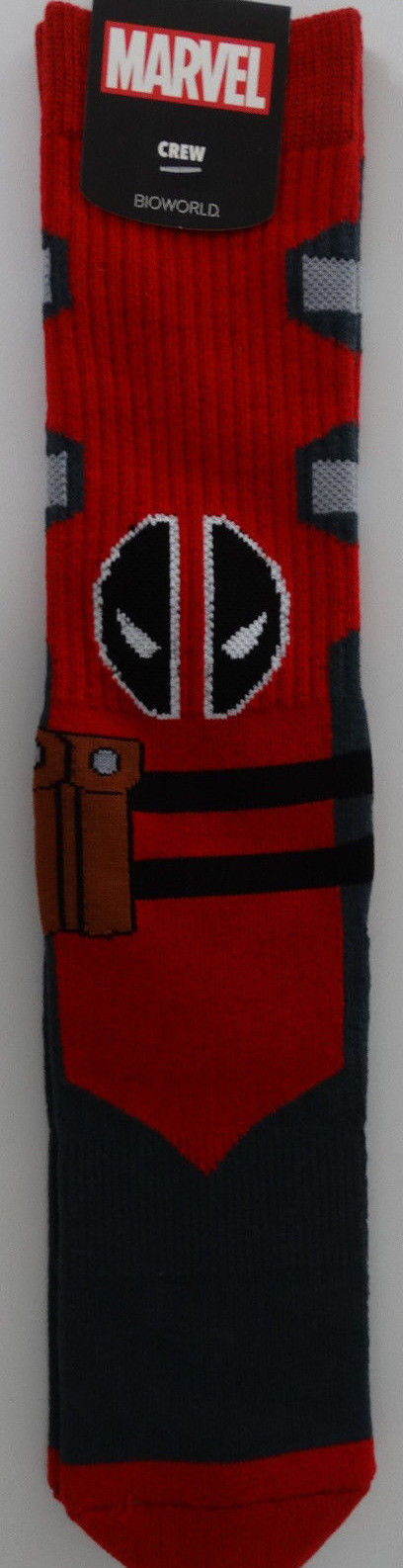 Deadpool Suit Up Costume Marvel Comics Adult Crew Socks