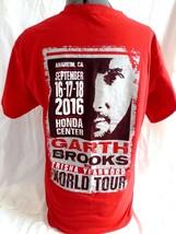 Garth Brooks Concert T-Shirt, 2016 World Tour w/ Trisha Yearwood, Size Medium  - $16.48
