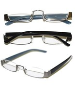 Reading Glasses TOPLESS Half Eye Delicate Reader ~ Hematite Gray Frame ~... - $29.50