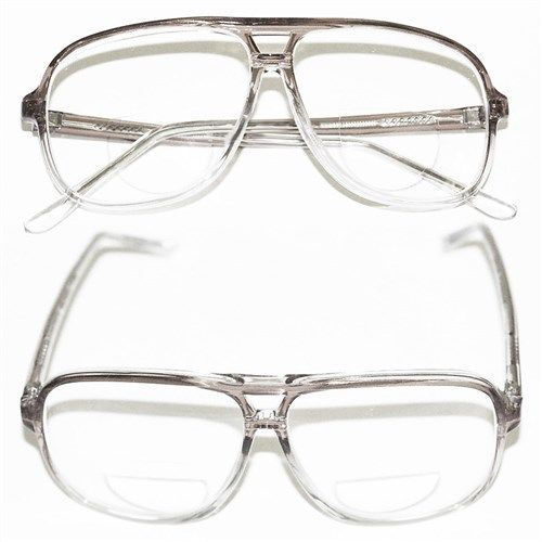 CLASSIC Mens LARGE Gray Ombre Frame Bifocal Reading ...