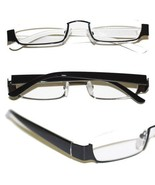Reading Glasses TOPLESS Half Eye Delicate Reader ~ Matte Black Frame ~  ... - $29.50