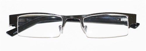 Glasses With Only Top Frame : Reading Glasses BRUSHED METAL Top Only HEMATITE GRAY Frame ...