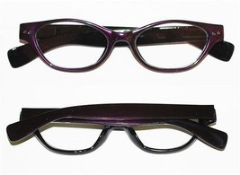 "Reading Glasses "" FUNKY Chunky FAT Cat Eye "" BOLD Purple Frame Readers +... - $26.00"