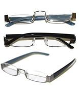 Reading Glasses TOPLESS Half Eye Delicate Reader ~ Hematite Gray Frame ~... - $29.50