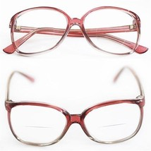 Reading Glasses Bifocal OFFICE Oval Large ROSE PINK Frame Polished +2.50... - $21.00
