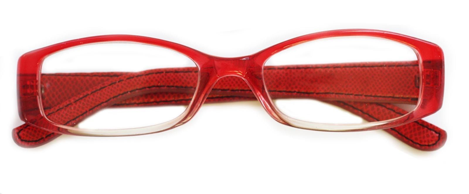 Leather Frame Reading Glasses : Reading Glasses ~ Posh ~ Rectangle Red Frame Simulated ...