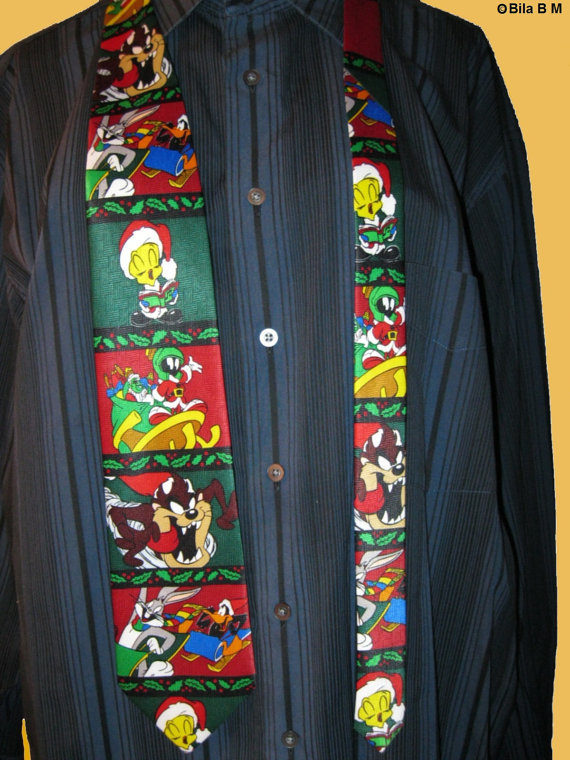 Primary image for LOONEY TUNES Christmas Holiday Cartoon Neck Tie - Ho Ho Ho - FREE SHIPPING