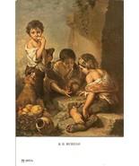 vintage gambling postcard artist b e murillo boys playing dice rare - $19.99