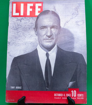 Vintage October 4, 1943 Issue Of Life Magazine, Tony Biddle WWII - $4.95