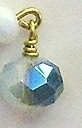 White Crystal Crescent Earrings