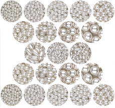 PEARL BEADS WHITE Round Oat 3mm 4mm 6mm 8mm 10mm 12mm - $4.95