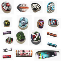 PERUVIAN CLAY BEADS Hand Painted Clay Beads from Peru. CLEARANCE LOTS Lt... - $3.95+