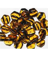 Tortoise Pentagon Czech Pressed Glass Beads 4x10mm (pack of 30) - $6.47