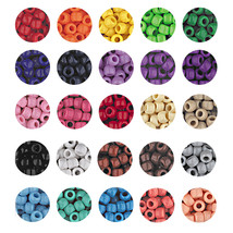 OPAQUE CROW BEADS PONY BEADS 6x9mm 30 solid colors! - $2.97