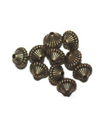 14mm Mushroom Antiqued Goldtone Metalized Metallic Beads - $6.47
