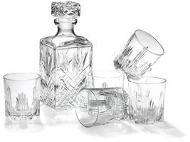 Whiskey Gift Set Bormioli Rocco Bar 7-Piece Glass Cocktail Ice Drink Gift - $37.19