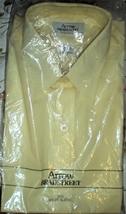 Men's Dress Shirt Short Sleeve Dress Shirt By Arrow -Color Yellow (15.5) - $11.75