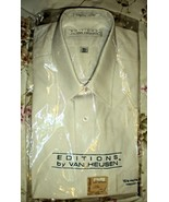 Men's Dress Shirt- Short Sleeve Dress Shirt By Van Heusen - White (15.5) - $11.75