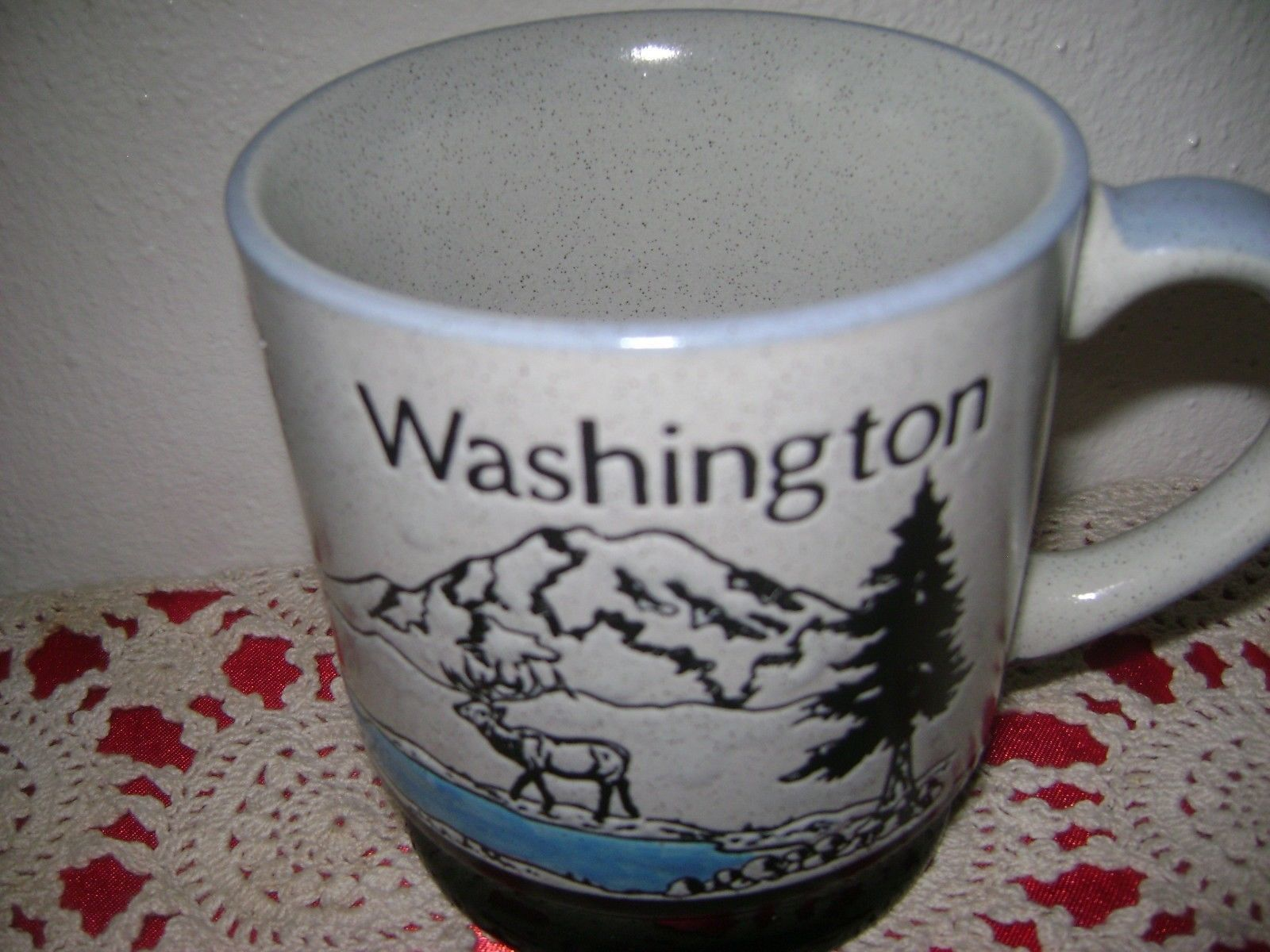 Primary image for Washington State Souvenir Mug Cup Stoneware Landscape Mountains 12 ounces