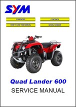 SYM Quad Lander 600 ATV Service Repair Workshop Manual CD - Sanyang Quad... - $12.00