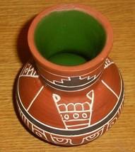 Signed Leopoldo de Mexico Native Indian Vase Pottery Latin America - $191.03