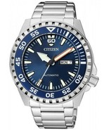 Citizen Marine Sport Men's Automatic Blue Dial Stainless Steel Watch NH8... - $167.27