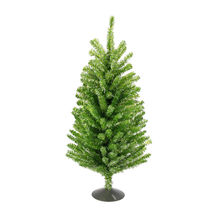 "18"" Sparkling Kiwi Green Silver Retro Tinsel Table Christmas Tree - tkcc - $37.95"