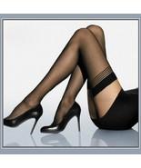 Ultrathin Sheer Silk Nylon Banded Top Thigh High Femme' Stockings Black ... - $8.95
