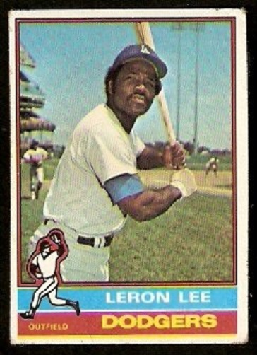 Primary image for 1976 Topps Baseball Card # 487 Los Angeles Dodgers Leron Lee g/vg