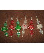 Beaded Holiday Lantern Hand Made Ornaments - x6 - $15.99