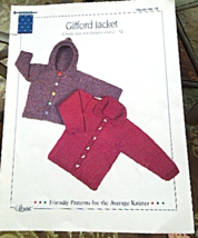 "Vintage 1998 Knitted Jacket Pattern ""Gifford Jacket"" -Childrens sizes 2-... - $3.99"