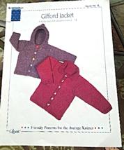 "Vintage 1998 Knitted Jacket Pattern ""Gifford Ja... - $3.99"