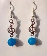 Musical Note Jade Dangle Earrings - $10.99