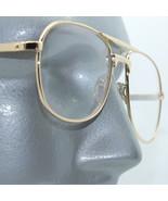 Reading Glasses +1.00 Lens Metal Aviator Frame Gold Double Bridge Man Size - $18.00