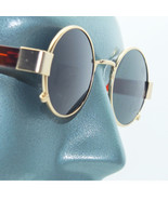 Rockin' Ozzy Small Frame Round Rock Star Sunglasses Shades Gold Metal Frame - $24.00