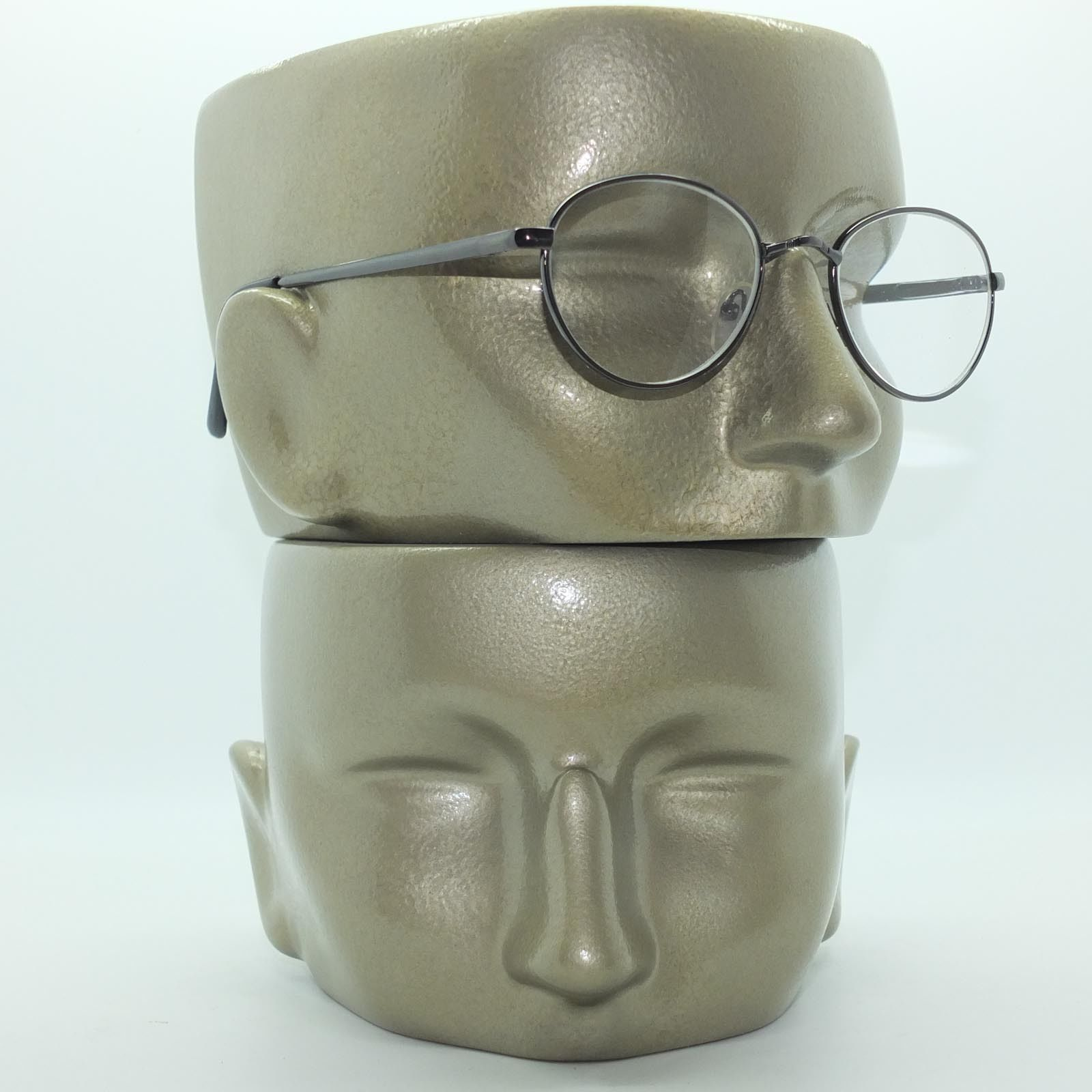 metal wire gray frame almost lens reading glasses 3