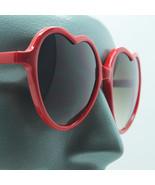 Love Heart Polished Acrylic Red Frame Happy Sunglasses Shades - $18.00