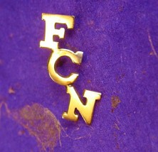 Vintage FCN Bank Tie Tack Stock Chart Federal Government Market Watch Me... - $55.00