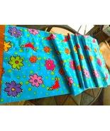 "Bright Blue Valance w/Fun Multi-Color Flowers and Hearts- 84""W x 18""L#4926 - $14.99"