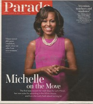 MICHELLE OBAMA AUTOGRAPHED PARADE MAGAZINE 8-18-2013 with COA - $49.95