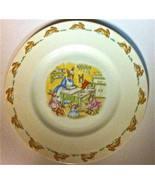 Vintage Bunnykins Child's Plate ~ Baking Cookies ~ by Royal Doulton - $26.00