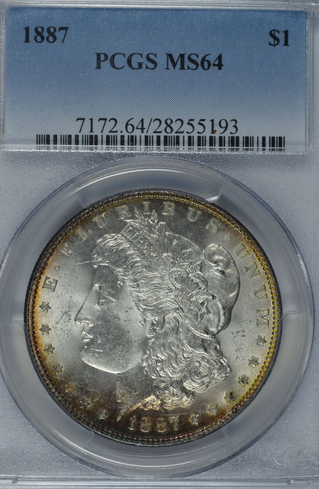 Primary image for 1887 P Morgan silver dollar PCGS MS64