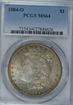 1884 O Morgan silver dollar PCGS MS64 - $86.00