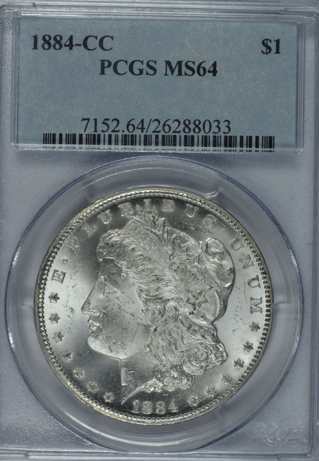 Primary image for 1884 CC Morgan silver dollar PCGS MS64  Carson City