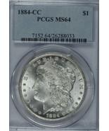 1884 CC Morgan silver dollar PCGS MS64  Carson City  - $315.00