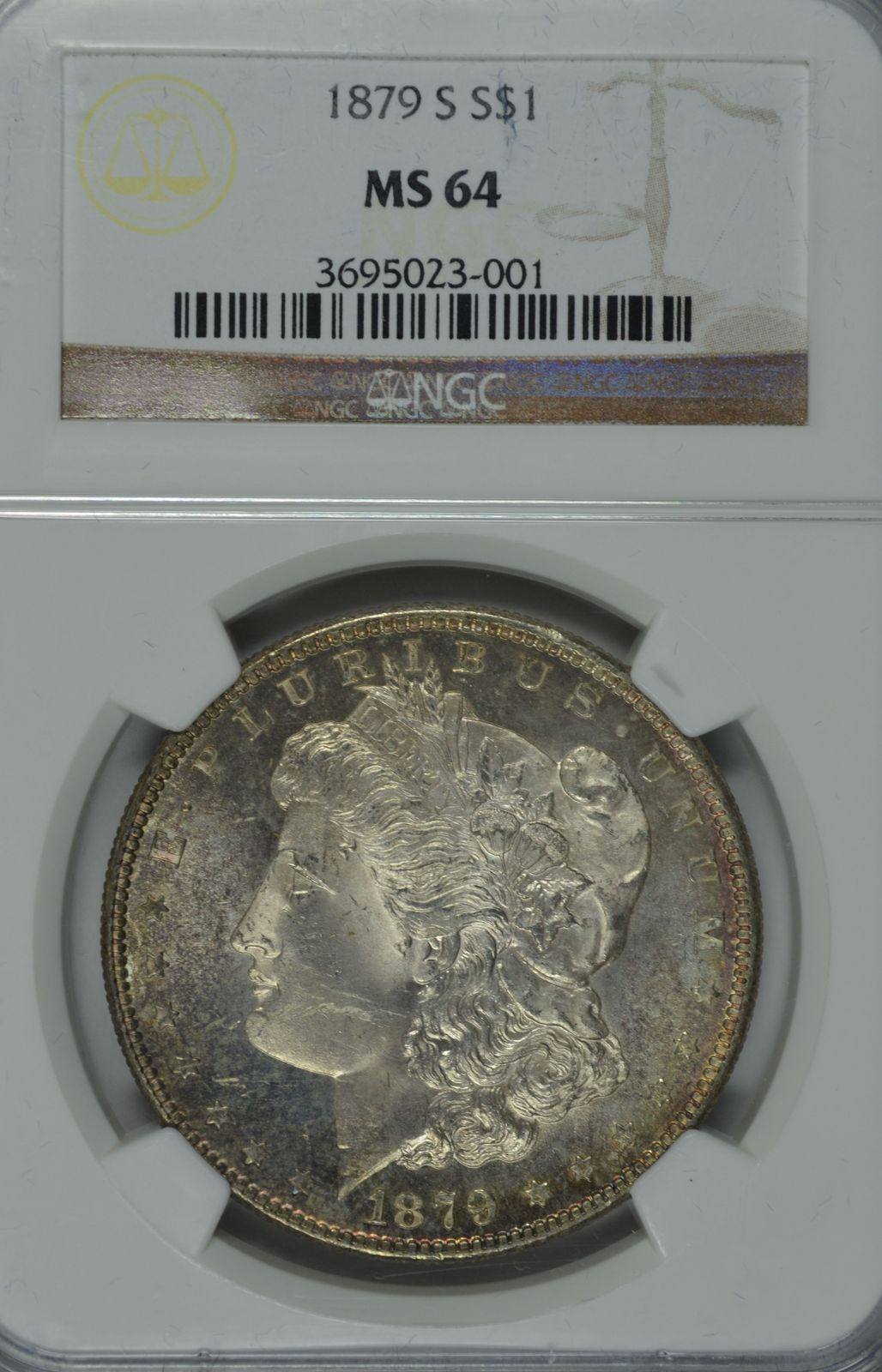 Primary image for 1879 S Morgan silver dollar NGC MS 64