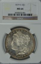 1879 S Morgan silver dollar NGC MS 64 - $99.00